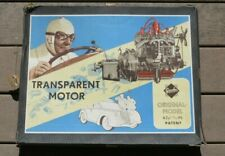 GESCHA 30's 40'S GERMANY BATTERY OPERATED TIN TOY TRANSPARENT MOTOR Engine