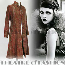 VINTAGE INDIAN 70s COAT DRESS JACKET 60s 6 8 10 12 BOHO VICTORIAN HIPPY WEDDING
