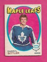 1971-72 OPC # 193 LEAFS DARRYL SITTLER 2ND YEAR VG  CARD (INV# D1451)