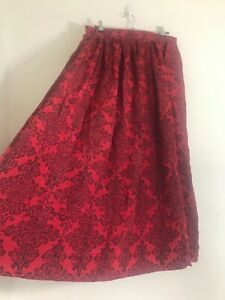 Vintage Boho Red Victorian Medieval Style Maxi Skirt Size 14/16 Xmas Party Arty