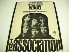 The ASSOCIATION Rare Preserved 1967 PROMO POSTER AD release of WINDY Bones Howe