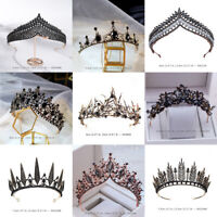 22 Styles Black Gray Crystal Queen Princess Tiara Crown Wedding Party Pageant