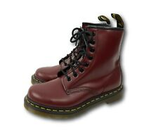 NEW Dr. Doc Martens 1460 Red Leather 8 Eye Ankle Combat Boots Sz UK 4 / US 6