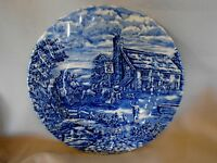 Vintage BURSLEY The Post House Cobalt Blue Plate - Made in England