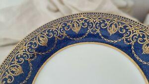 Vintage WEDGWOOD Blue Gold Side Plate - Greco Roman Modern Classicism