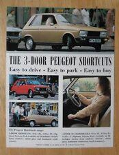 Peugeot 104 gamme 1978-79 uk marketing ventes notice brochure