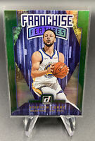 Stephen Curry Flood Green Holo Franchise Features 19-20 Donruss Golden State