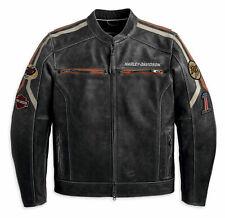 MENS VINTAGE CLASSIC DISTRESSED HARLEY DAVIDSON MOTORCYCLE LEATHER JACKET