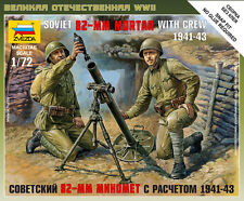 6109 SOVIET 82-MM MORTAR WITH CREW - ZVEZDA 1/72 - 20mm - WW2 FLAMES