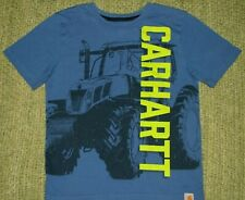 CARHARTT Sharp Tractor Design LoGo T-Shirt Boys Small S 8/10