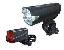 Fahrrad Batterie Lampen-Lichtset Büchel SLIM LED 12 Lux Frontlicht Rücklicht Neu