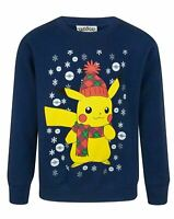 Pokemon Pikachu Boys Kid's Christmas Sweatshirt Jumper