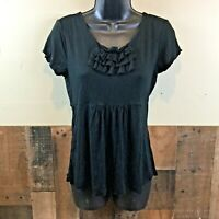 Ann taylor petites womens MP black short sleeve shirt ///////