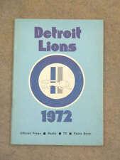 DETROIT LIONS MEDIA GUIDE NFL - 1972 - NEAR MINT