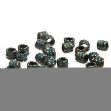 Vintage Bronze Verdigris Bail Charms Beads DIY Bracelet 6*6mm Accessory 20pcs