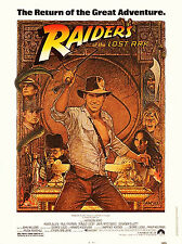 Raiders Of The Lost Ark (1981) Original 30 X 40 Movie Poster - R-1982 - Rolled
