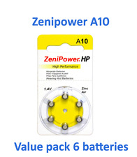 hearing aid batteries size 10 Value pack 6 batteries Fresh Expire 03/2019