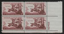 US Scott #1077, Plate Block #25409 1956 Wildlife 3c FVF MNH Lower Right