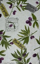 Tuscan Inspired Flannel backed Vinyl Tablecloths. Round, Oblong, Square