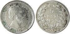 PAYS  BAS  ,  WILLEM  ,  5  CENTS  ARGENT  1879