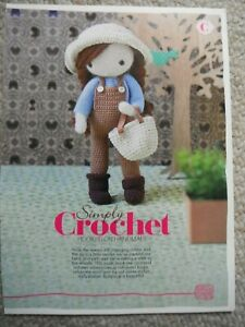 CROCHET  TOY  PATTERN  AMIGURUMI DOLL   REMOVED FROM A MAGAZINE & ABBREVIATIONS