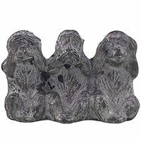 Spoontiques Pewter 3 Three Wise Monkeys Figurine See Speak Hear No Evil Vintage
