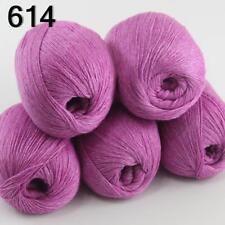 Sale New 5 Skeins Mongolian Pure Cashmere Wrap Shawls Hand Knitting Wool Yarn 14