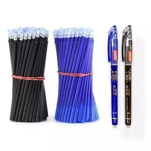 Erasable 0.5m Gel Pen Blue/Black Ink Magic Refill Set Stationary Writing Tool