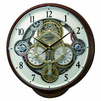 Widget (Woodgrain) Musical Wall Clock by Rhythm Clocks 4MH886WU23