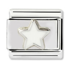 GENUINE Nomination Classic White Star Charm 330202/04 / £18 RRP