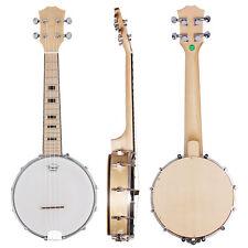 Kmise Banjo Ukulele Ukelele Concert 23 Inch Size 4 String Exquisite Canada Maple