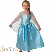 Girls Deluxe Elsa Frozen Costume Disney Princess Fancy Dress Child Outfit