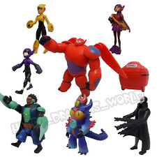New Set of 8 Pcs Big Hero 6 Movie Character Action Figures Baymax Kids Toy Dolls