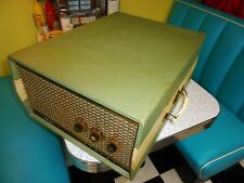 VINTAGE 1958 SILVERTONE PORTABLE STEREO 4 SPEED RECORD PLAYER / CHANGER