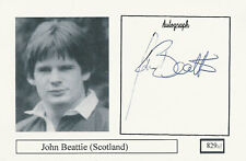 John Beattie SCOTLAND  RUGBY PLAYER SIGNED PHOTO CARD ORIGINAL AUTOGRAPH