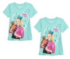 JoJo & Bow Bow Youth Girl Aqua Mist Graphic T-Shirt Size S (6/6X) LOT OF TWO!