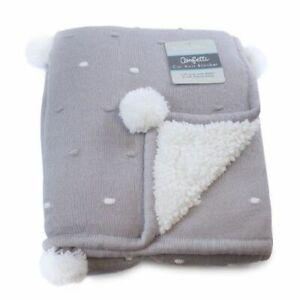 Bubba Blue Confetti Knit Cot Blanket Grey