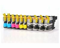 10PK INK FOR BROTHER LC-203XL LC203 LC-203 XL MFC-J4620DW MFC-J460DW MFC-J485DW
