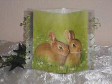 Tischlicht/Windlicht - Kleine Hasen/Kaninchen - Tischdeko