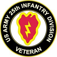 "Army 25th Infantry Division Veteran 5.5"" Sticker / Decal 'Officially Licensed'"