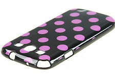 For Samsung Galaxy S3 - Polka Dot Case / Cover - Purple and Black -Great Deal!