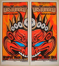 2005 Disturbed w/ COC - Columbus Two Silkscreen Concert Posters S/N Martin