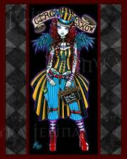 Steampunk Circus Couture Tattoo Angel Art Signed Fae Print Layla V2 Myka Jelina