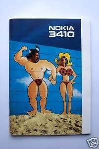 Bedienungsanleitung Nokia 3410 Gebruikershandleiding