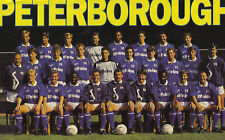 PETERBOROUGH UNITED FOOTBALL TEAM PHOTO>1991-92 SEASON