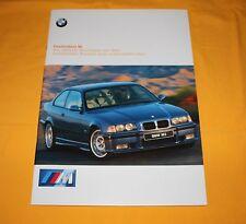 BMW M3 Coupe Lim. Cabrio M Roadster 1997 Prospekt Brochure Prospetto Catalog