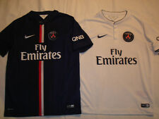 PARIS SAINT GERMAIN FOOTBALL SHIRTS x2 2014 2015 HOME AWAY BOYS LARGE 12-13  NIKE 401ce8eec