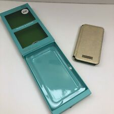 Kate Spade Folio Genuine Case With Card Slots For iPhone XS/X Saffiano Gold New