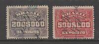 Brazil KEY VALUES Cinderella or Revenue stamp 3-21(20)- scarce