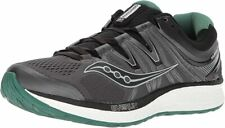 Saucony Men's Hurricane ISO 4 Running Shoe, Black/Grey, 9 D(M) US